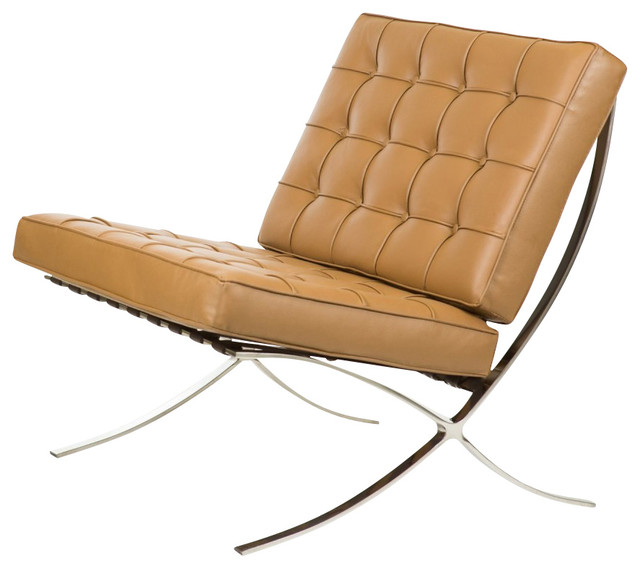 barcelona chair leather pretty desk chairs aniline living room by serenity stores