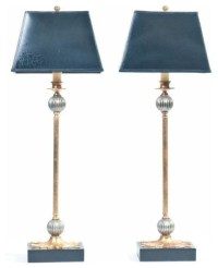 SOLD OUT! Pair of Black and Gold Buffet Lamps - $450 Est ...