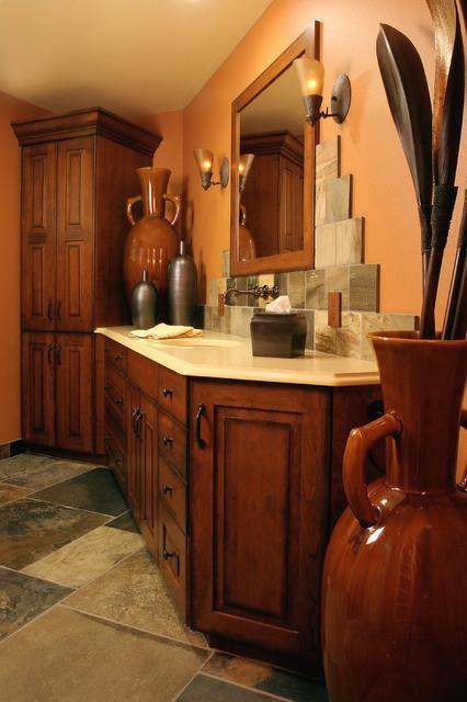 kitchen cabinets portland revolving spice racks for tuscan style bath - mediterranean bathroom ...