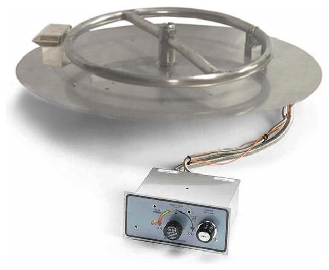 Flame Sensing Spark Ignition Fire Pit Burner Kit 14quot Pan