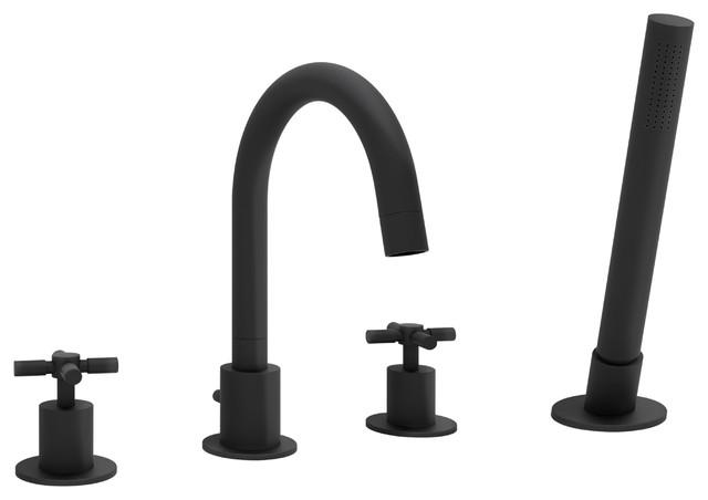 prima 4 widespread bathtub faucet matte black