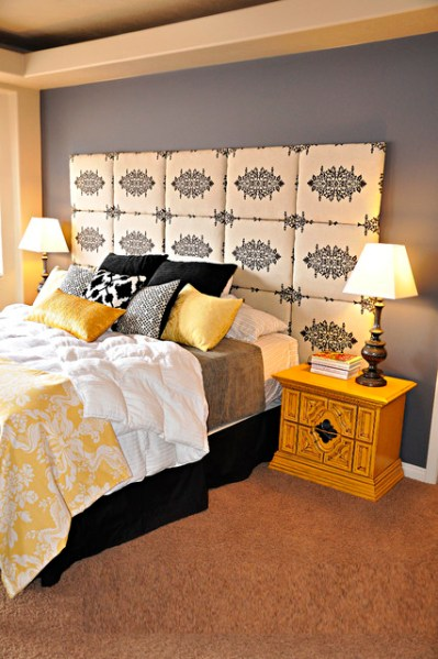 yellow and grey master bedroom Gray and Yellow Master Bedroom