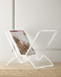 Versa Acrylic Magazine Rack - CLEAR - Contemporary ...