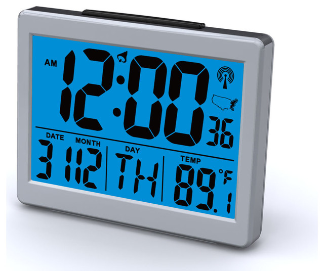 Sonnet Atomic Bedroom Alarm Clock With 15 High Time