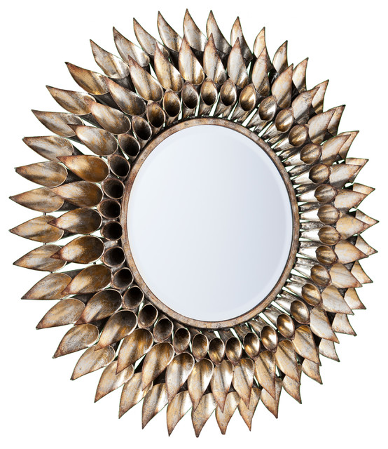 Wall Decorative Mirror Round With Smooth Polished Edge Global Best Set