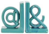 """Ceramic Alphabet Sculpture """"@&"""" Bookends, 2-Piece Set ..."""