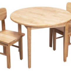 Tables And Chairs Nice Desk Gift Mark Home Kids Natural Hardwood Round Table Chair Set Finish Transitional By Clickhere2shop