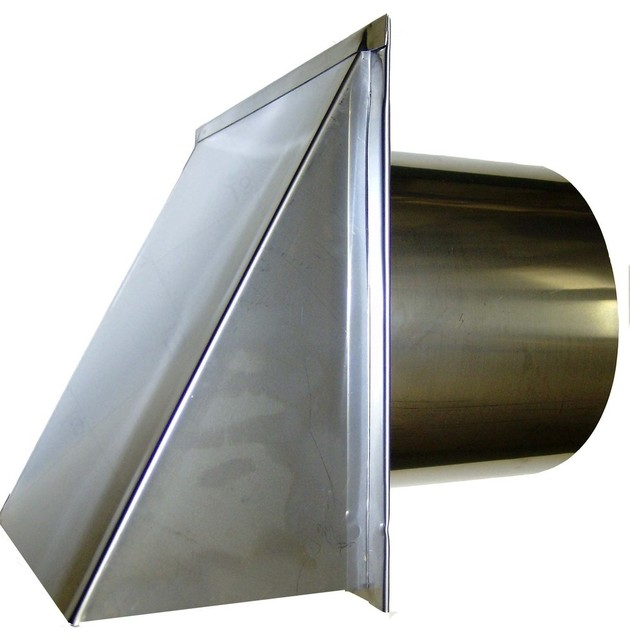 stainless steel exterior side wall cap 3 inch with damper only