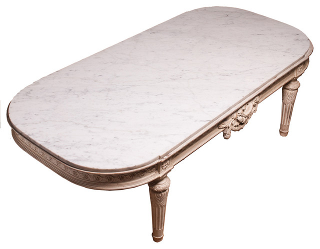 20th Century Marble Top Cocktail Table