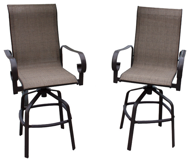 bar height patio stools set of 2 brown