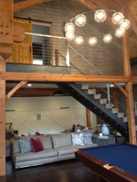 post and beam barn - Industrial - Staircase - New York ...
