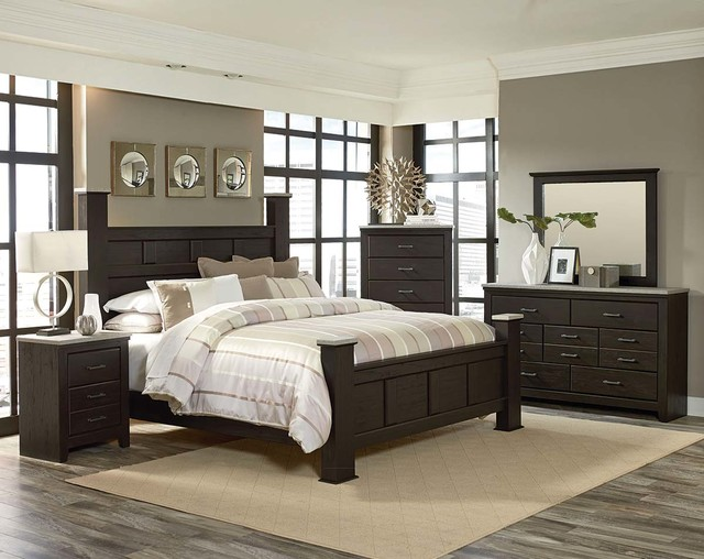 stonehill dark bedroom set - traditional - columbus - by american