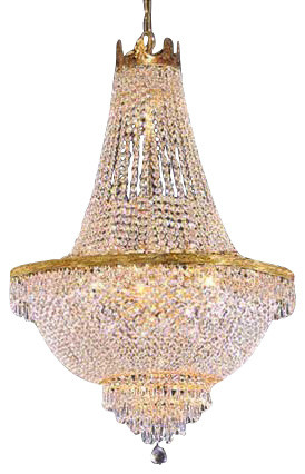 French Empire Crystal Chandelier 14 Light 36 X 30 Traditional Chandeliers