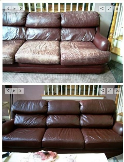 Reupholster Leather Sofa?