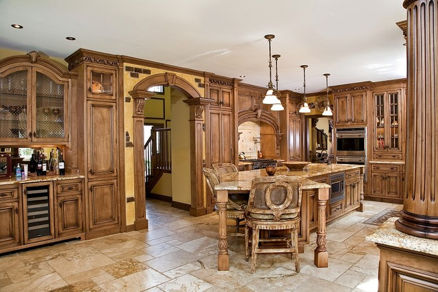 Tuscan Kitchen Design Nj Traditional Kitchen Newark