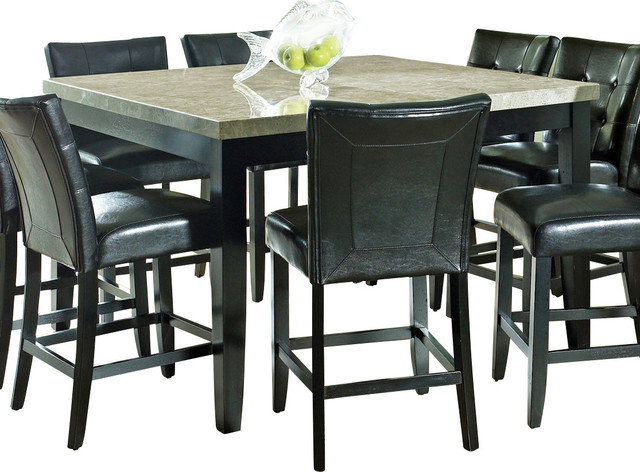 MC5454PT  Monarch 54 Square Counter Height Dining Table  Transitional  Indoor Pub And Bistro