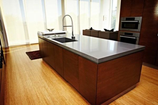 concrete kitchen countertops island Caesarstone Quartz Concrete Kitchen Island Countertop - Contemporary - Kitchen - Seattle - by