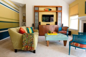 Colorful Modern Living Room   Contemporary   Living Room ...