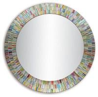 Bohemian Rainbow Rhapsody Wall Mirror, Glass Mosaic ...