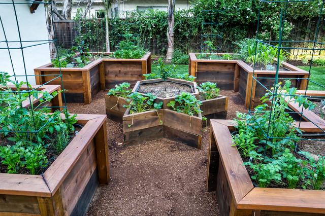 Raised Bed Vegetable Garden Traditional Landscape San