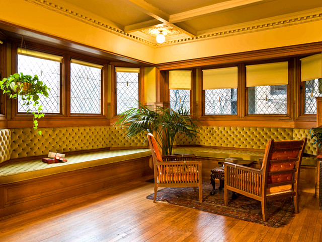 Frank Lloyd Wright Home  Studio  Victorian  Living Room