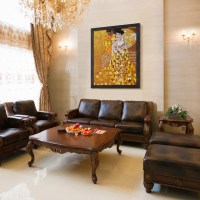 Oil Paintings for Living Rooms - Traditional - Living Room ...