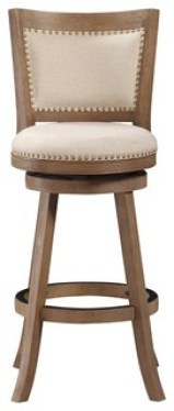 Melrose Swivel Stool, Driftwood, Bar Height
