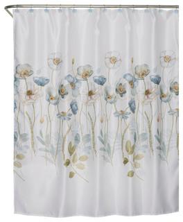 Saturday Knight Garden Melody Fabric Shower Curtain