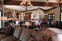 Lodge Inspired Residence - Open Concept Kitchen, Dining ...