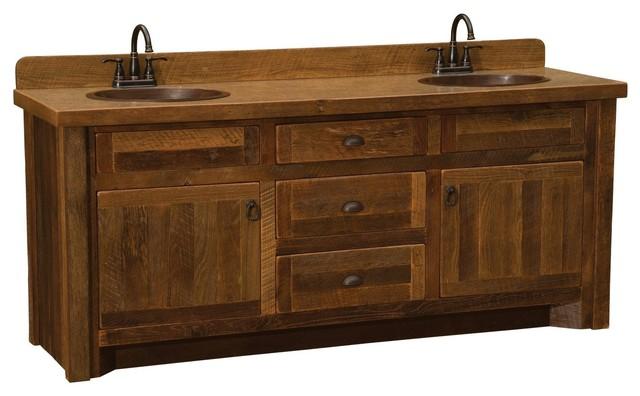 barnwood vanity without top 5 foot 6 foot double sink 72