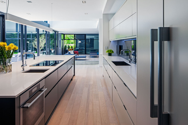Modern Home In Oakville Ontario Scandinavian Kitchen