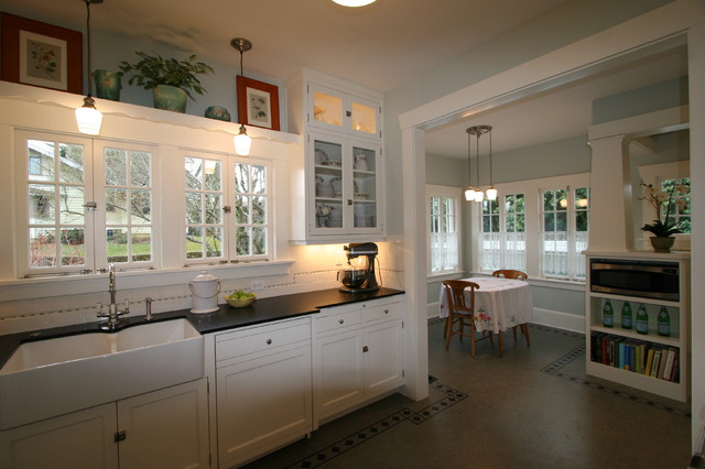 craftsman style chairs ribbed leather office chair 1907 airplane bungalow - kitchen portland by design and renovation