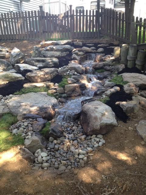 pondless waterfall natural stone