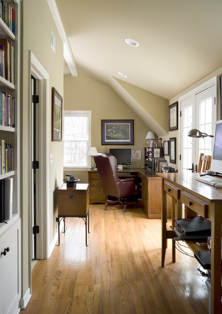 Cape Cod Addition home office  Traditional  Home Office  Kansas City  by ROTHERS DesignBuild