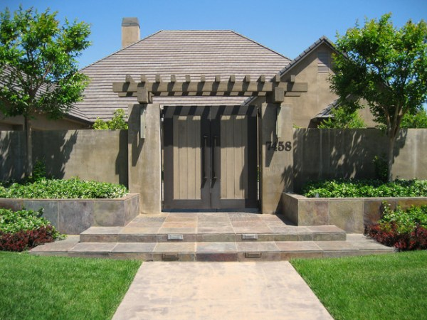 front entry gate - contemporary