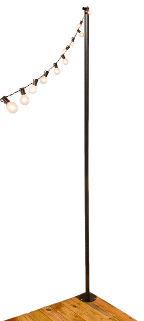 IYN Pole Stand Transitional Outdoor Rope And String Lights By Illuminate Your Night