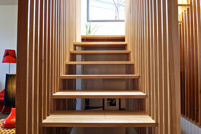 Fixer Upper Outdoor Lighting Stair Slats - Modern - Staircase - Toronto - By Andrew