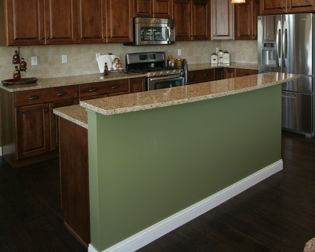 Island Back Panel Treatments Traditional Kitchen Chicago By