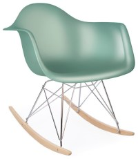 Molded Plastic Rocking Shell Arm Chair - Midcentury ...