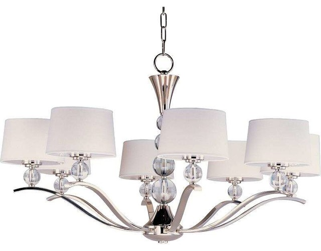 Rondo 8 Light Chandelier Transitional Chandeliers