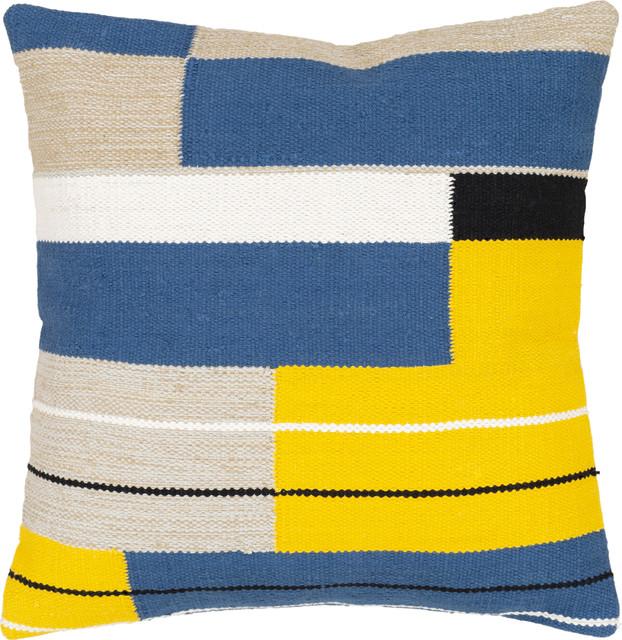 harley pillow 3 dark blue denim bright yellow khaki white black polyeste