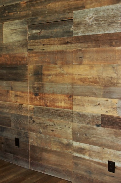 Reclaimed Barn Wood Walls  Contemporary  Dallas  by
