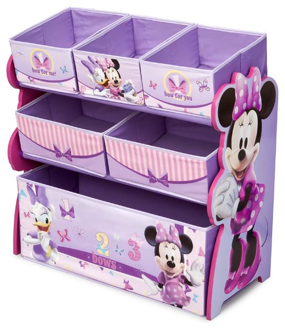 Stylish Design Purple Multi Bins Boxes Minnie Mouse Girls