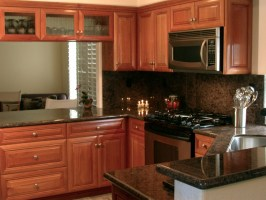 Natural Cherry Wood Kitchen Cabinetry   Traditional ...