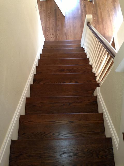 Red Oak Wood Floors With Dark Walnut Stain