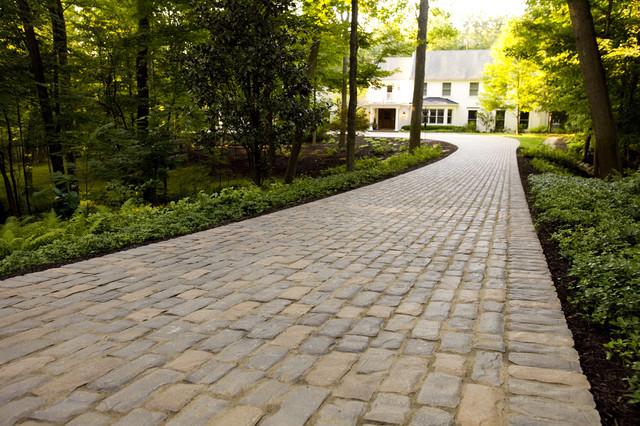 Cobblestone Concrete Paver Driveway  Traditional  Exterior  Cincinnati  by Distinctive Patios