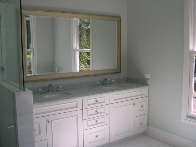 white bathroom cabinets - traditional - bathroom - san francisco