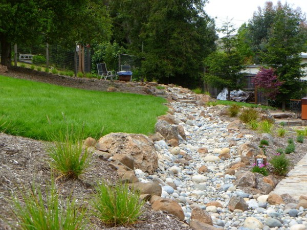 dry stream bed - traditional