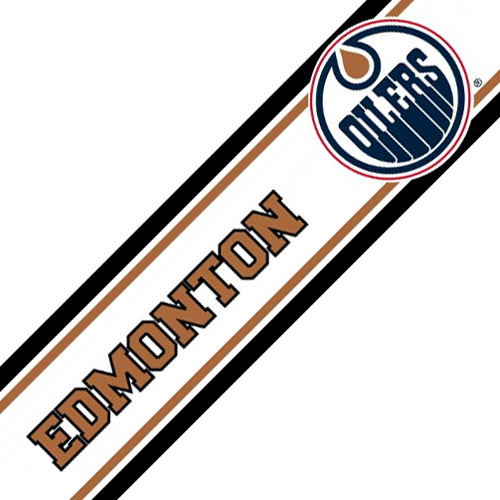 NHL Edmonton Oilers Prepasted Hockey Wall Border Roll