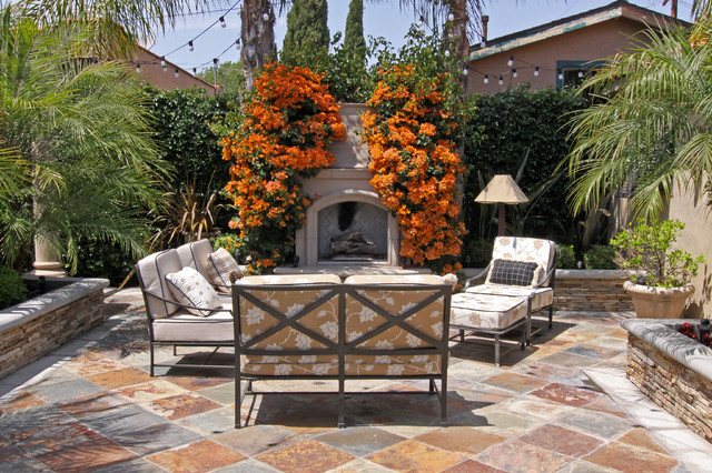 Cheap Side Table Lamps Spanish Bungalow - Mediterranean - Patio - Orange County